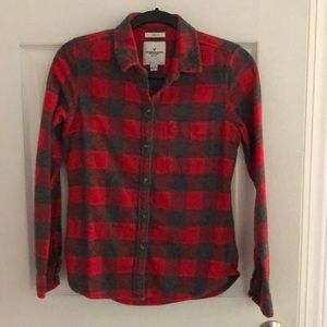 Women's American Eagle Button Up Plaid Shirt